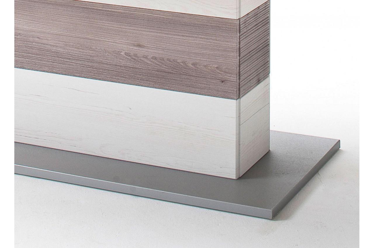Table repas design extensible imitation pin blanc cbc for Imitation meuble design