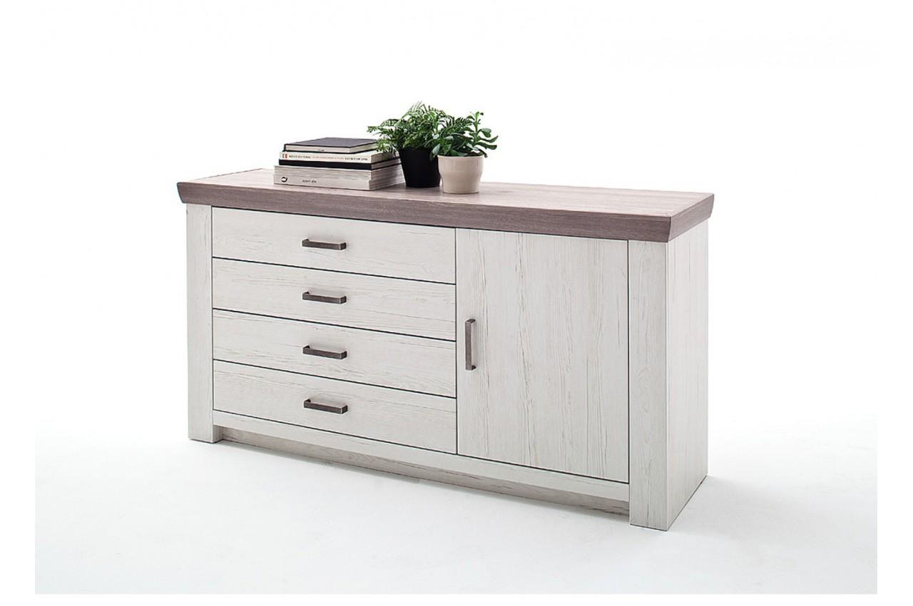 buffet pin blanc 160 cm cbc meubles. Black Bedroom Furniture Sets. Home Design Ideas