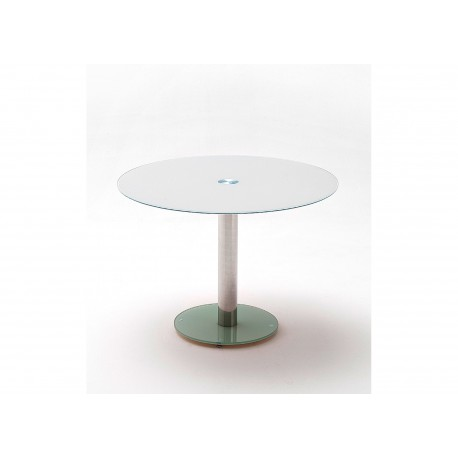 Table ronde en verre 5 couleurs