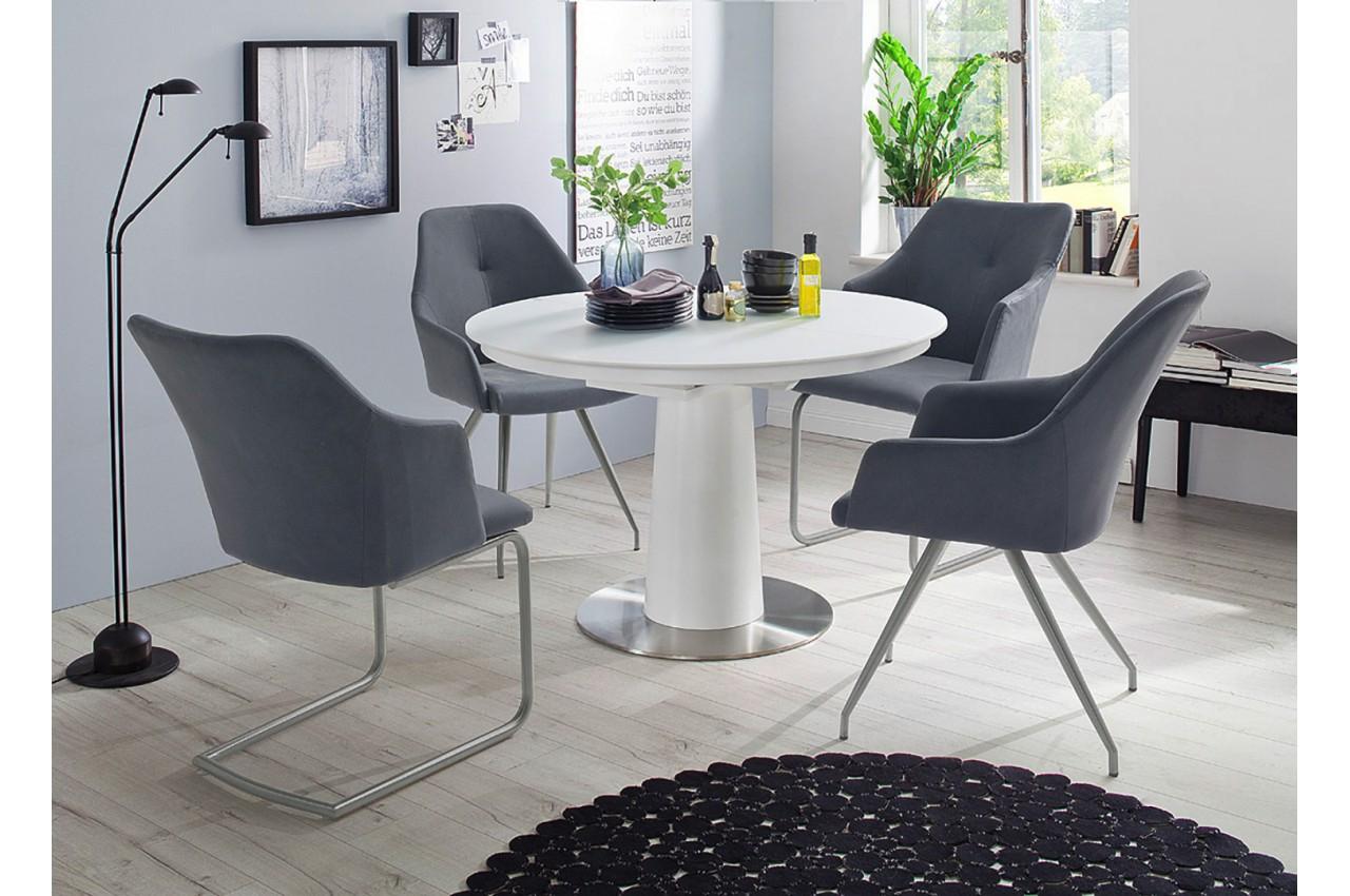 Table ronde en verre extensible cbc meubles - Tables rondes en verre ...