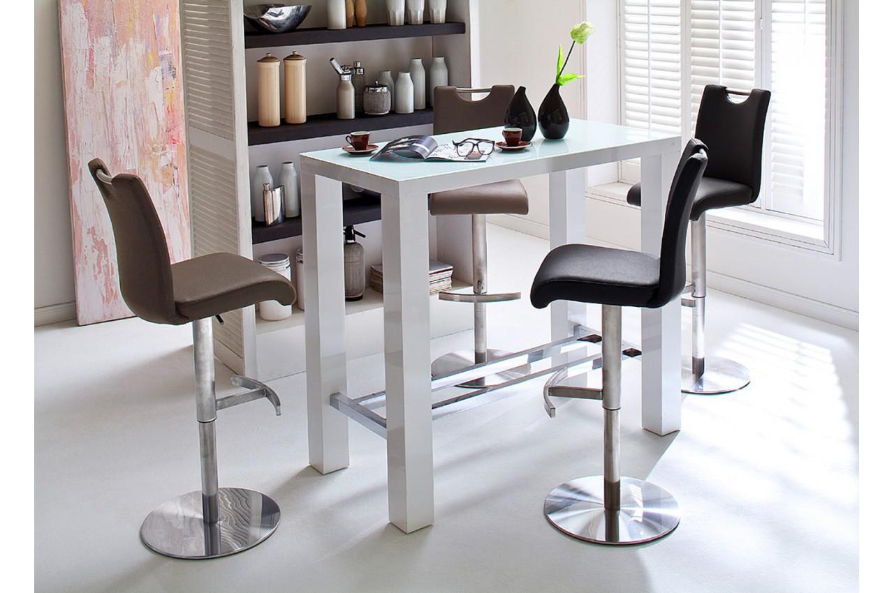 bar blanc laqu 120 cm cbc meubles. Black Bedroom Furniture Sets. Home Design Ideas