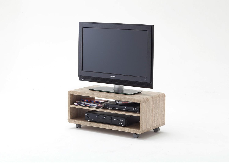 Meuble TV bois sur roulettes pas cher