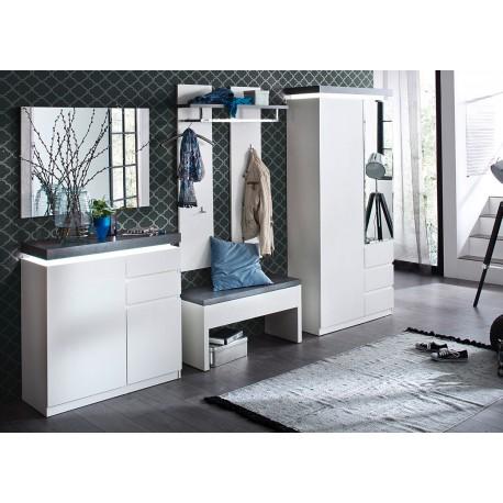 Ensemble de meubles d'entrée blanc et gris