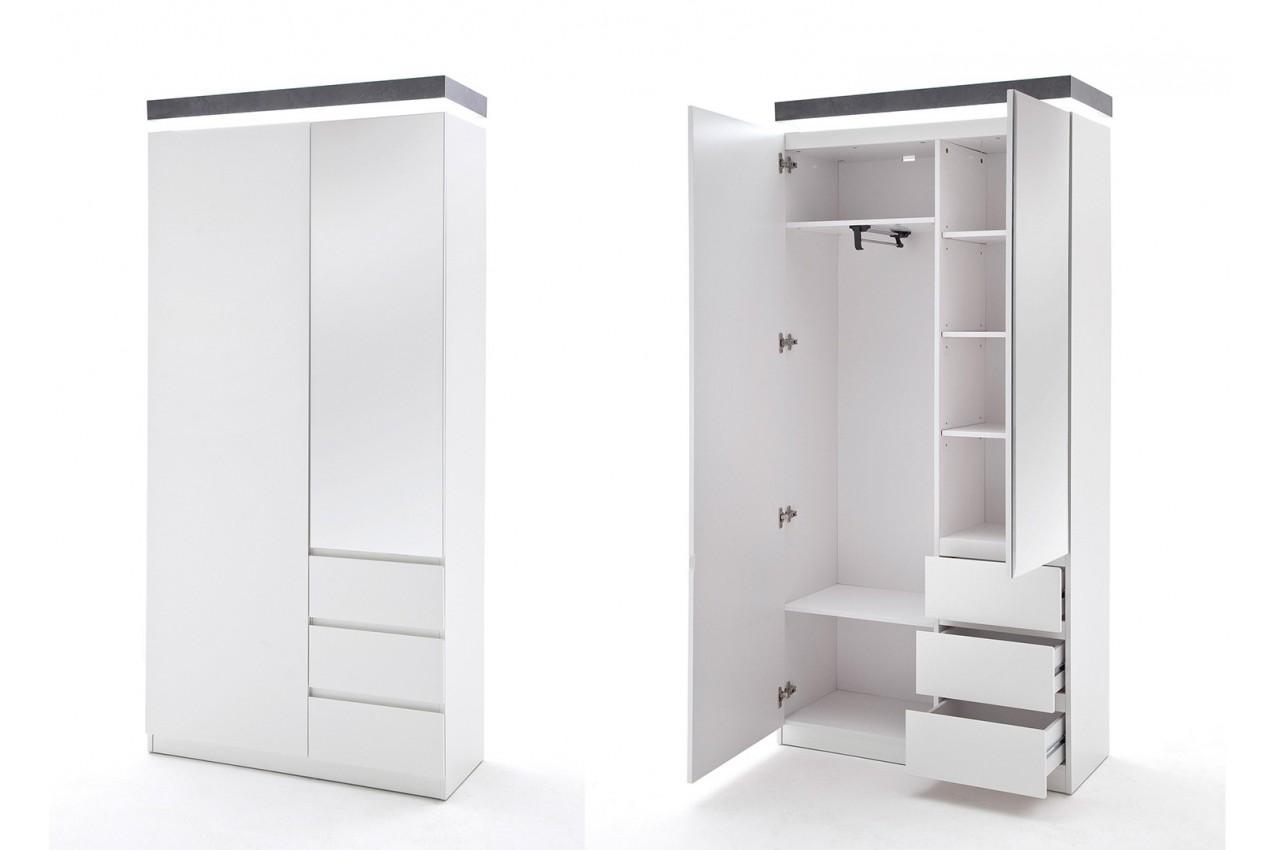 Ensemble de meubles d 39 entr e blanc et gris cbc meubles for Ensemble de chambre blanc