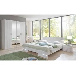 Chambre adulte complète chêne blanc