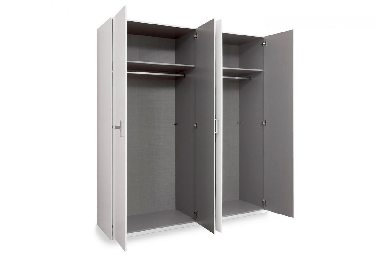 Chambre compl te blanche cbc meubles for Meuble chambre adulte pas cher