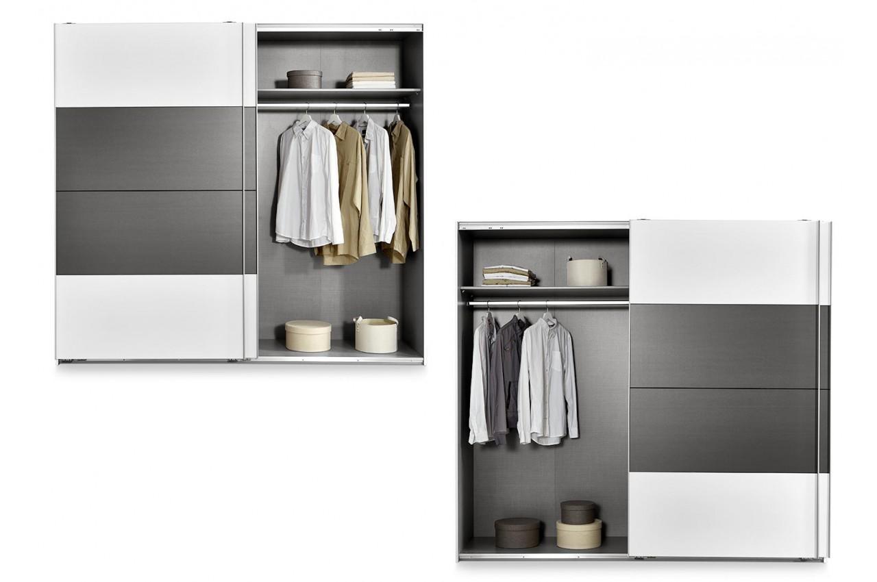 chambre 224 coucher blanche et grise cbcmeubles