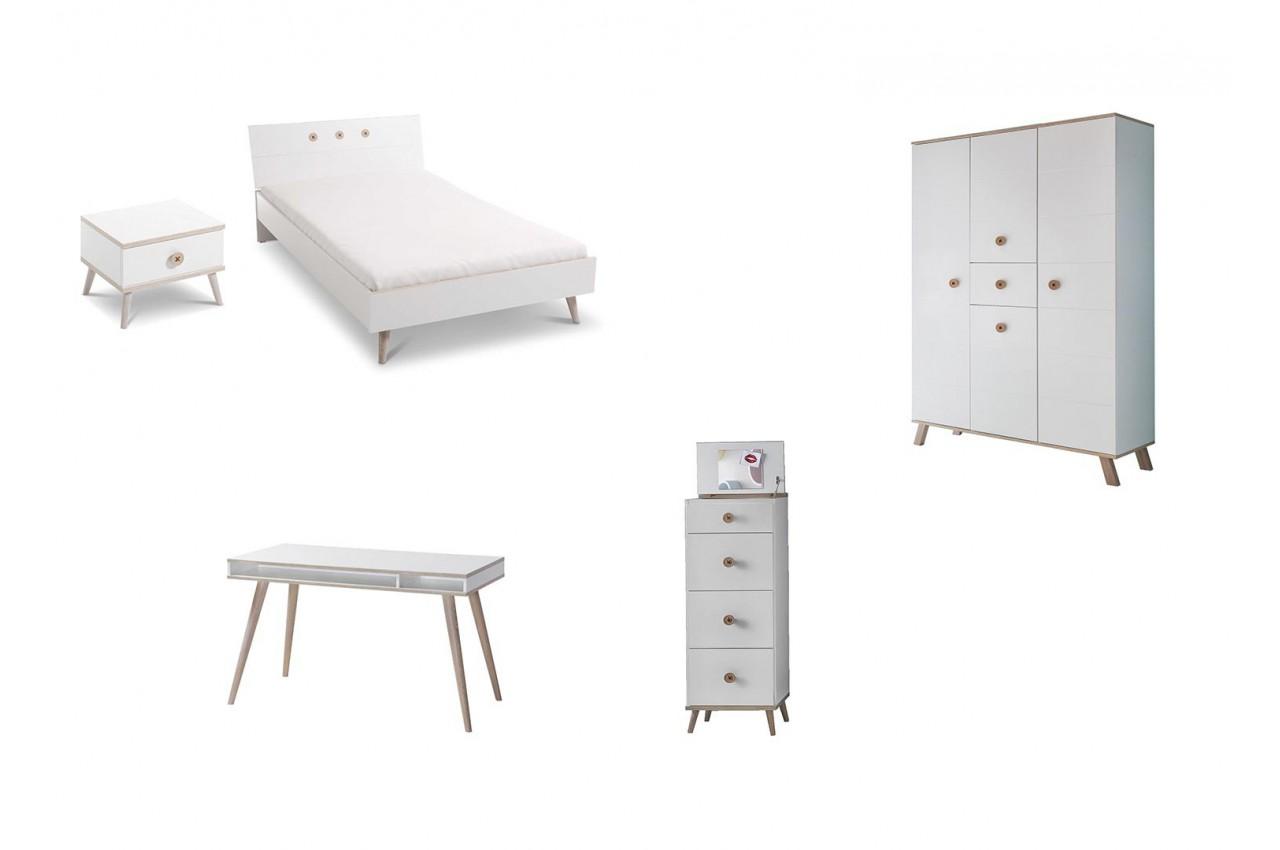 chambre enfant compl te 5 l ments cbc meubles. Black Bedroom Furniture Sets. Home Design Ideas