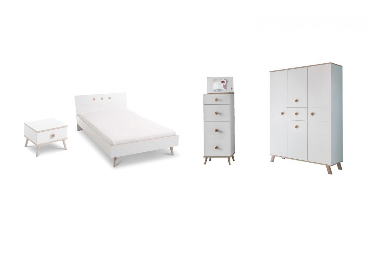 Chambre enfant compl te 4 l ments cbc meubles for Mobilier de chambre complet