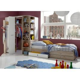 Chambre enfant avec armoire d'angle