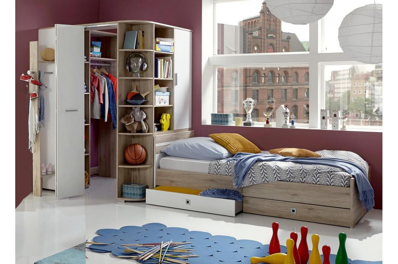 Chambre enfant avec armoire d 39 angle cbc meubles - Meuble angle chambre ...