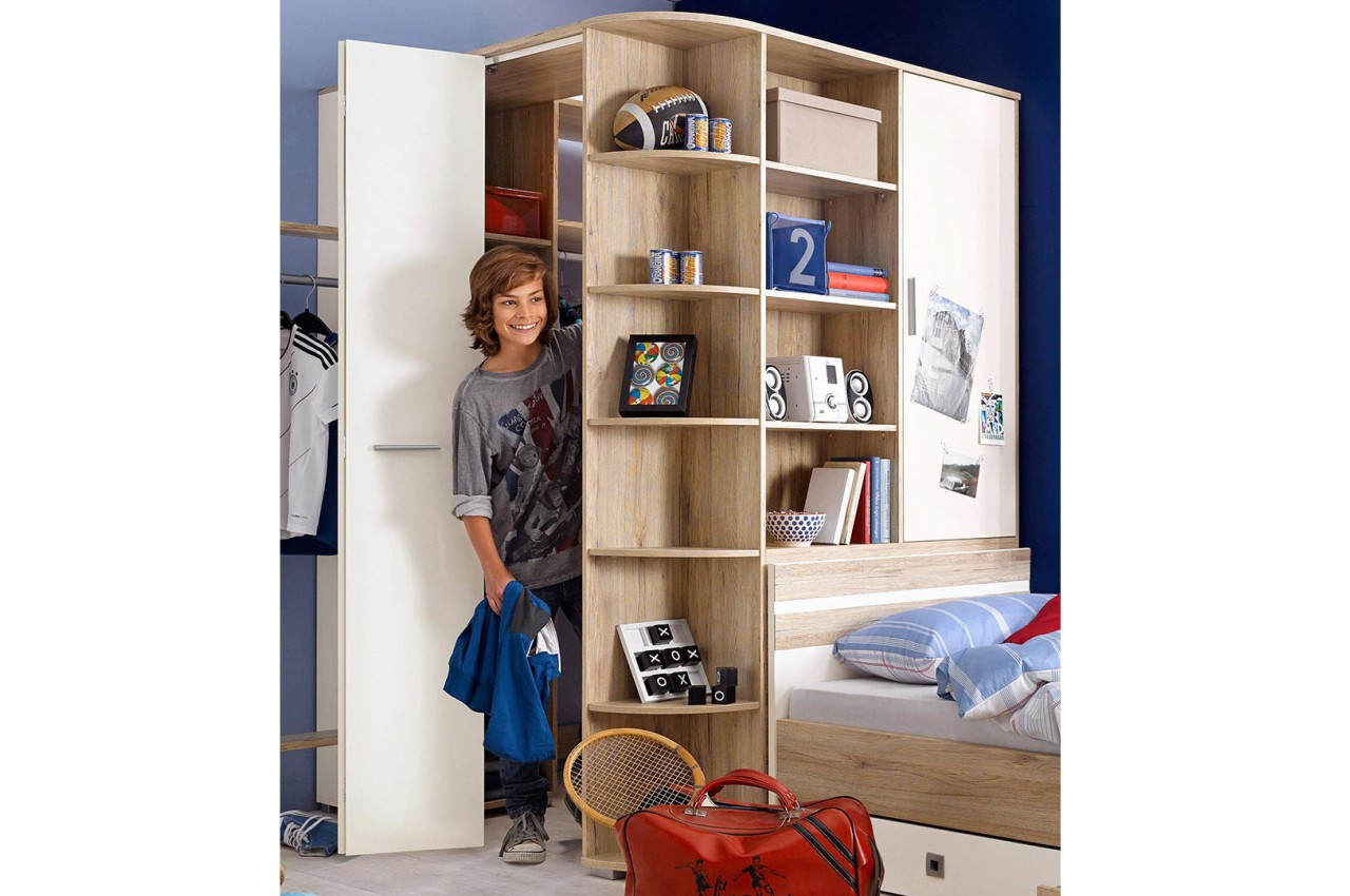 chambre enfant avec armoire d 39 angle cbc meubles. Black Bedroom Furniture Sets. Home Design Ideas