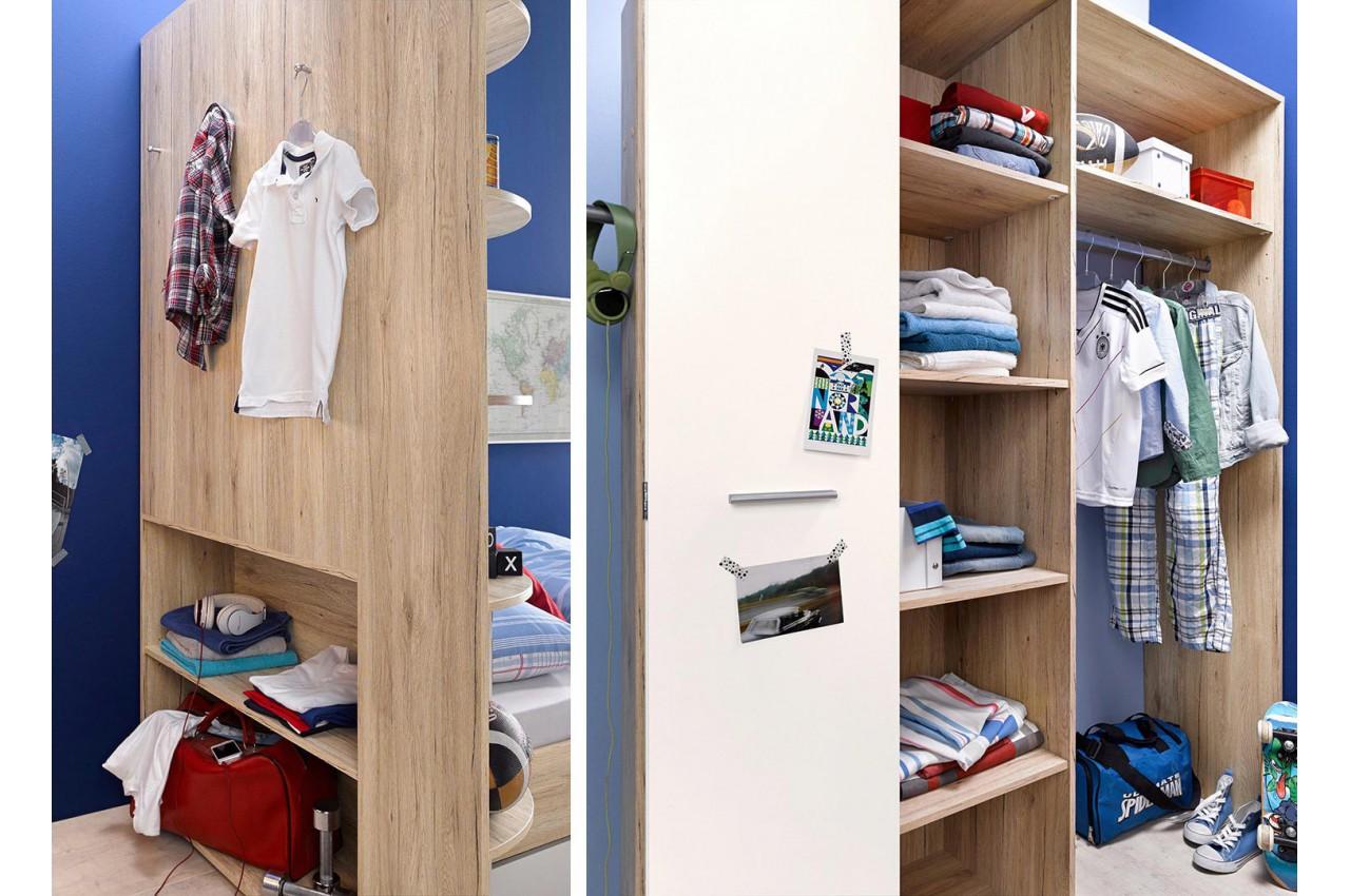 Armoire d 39 angle chambre enfant cbc meubles - Chambre enfants pas cher ...