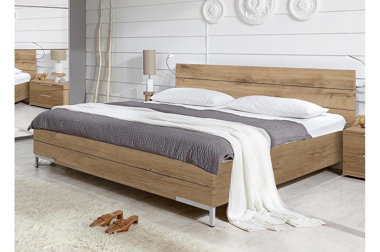 lit adulte 160x200 cm ch ne poutre cbc meubles. Black Bedroom Furniture Sets. Home Design Ideas