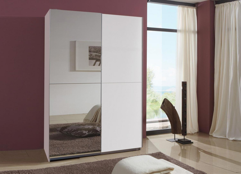 Armoire à portes coulissantes blanche 135 cm