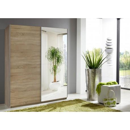 Armoire à portes coulissantes chêne 135 cm
