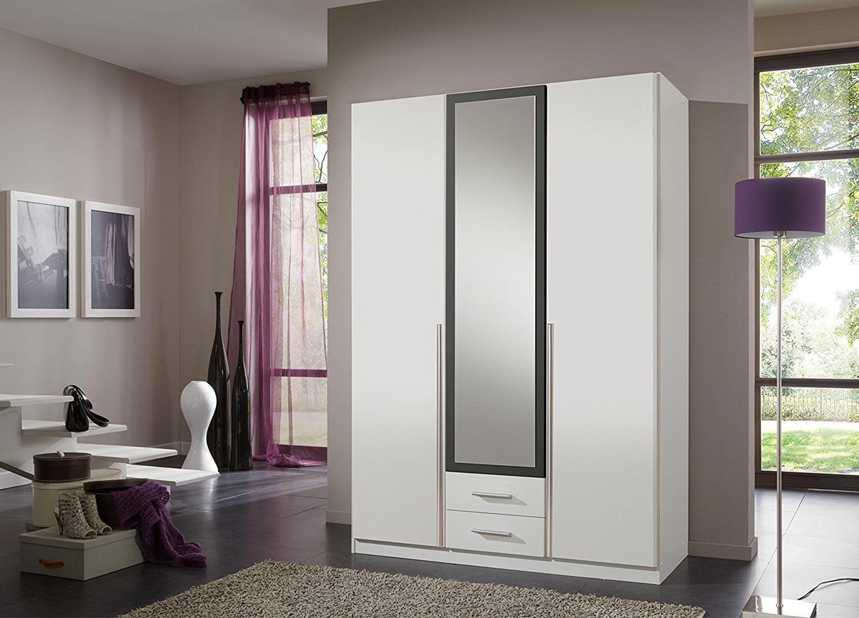 Armoire 3 portes blanche pas cher 135 cm