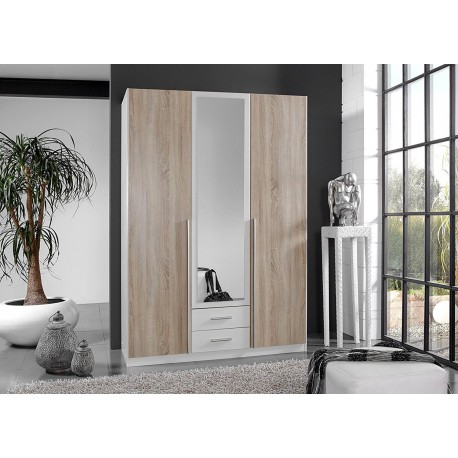 armoire 3 portes pas cher 135 cm cbc meubles. Black Bedroom Furniture Sets. Home Design Ideas