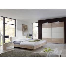 Chambre à coucher adulte pas cher chêne clair