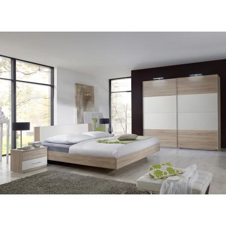 Chambre à coucher adulte pas cher chêne clair - Cbc-Meubles