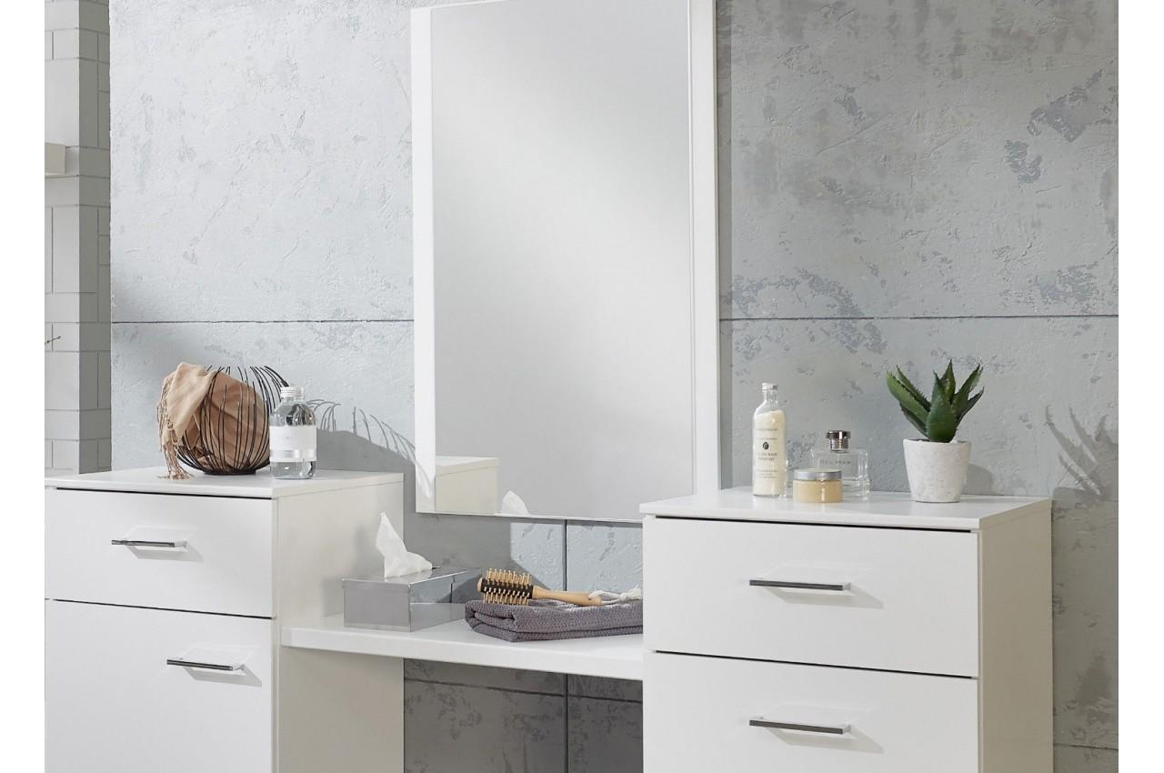 Coiffeuse table de maquillage moderne cbc meubles - Meuble coiffeuse avec miroir pas cher ...