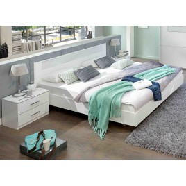 Lit adulte design blanc 180x200 cm