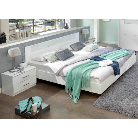 lit adulte design blanc 180x200 cm cbc meubles. Black Bedroom Furniture Sets. Home Design Ideas