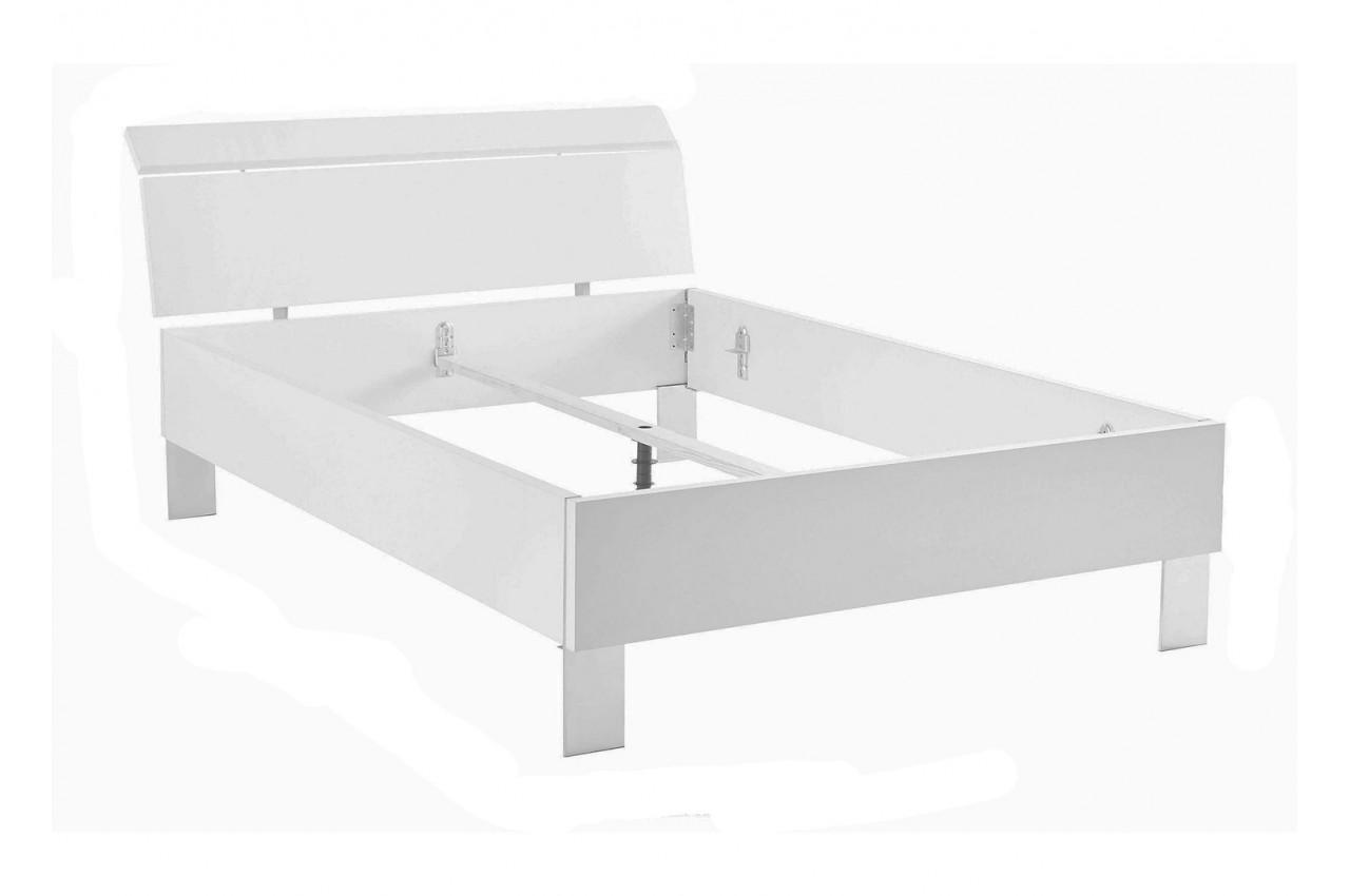 Lit adulte bois ch ne poutre 140x200 cm cbc meubles - Lit double complet pas cher ...