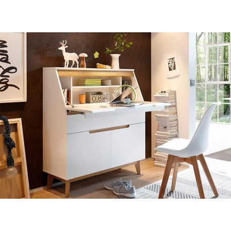 bureau secr taire blanc scandinave cbc meubles. Black Bedroom Furniture Sets. Home Design Ideas