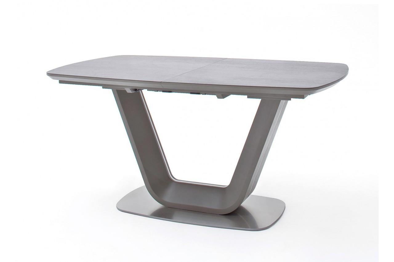 table repas design extensible grise cbc meubles. Black Bedroom Furniture Sets. Home Design Ideas