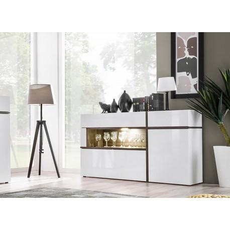 Buffet design blanc à led
