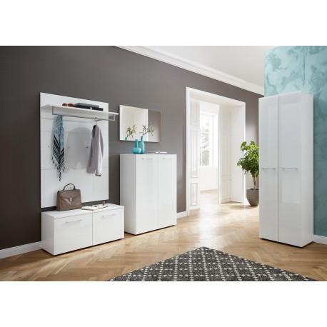 meuble d 39 entr e vestiaire complet blanc cbc meubles. Black Bedroom Furniture Sets. Home Design Ideas