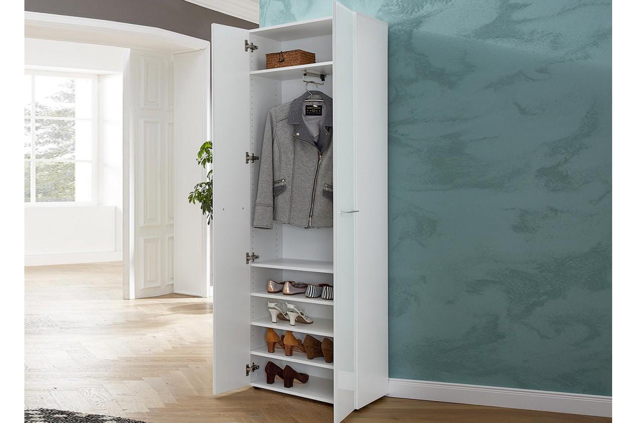 meuble entr e armoire rangement blanche cbc meubles. Black Bedroom Furniture Sets. Home Design Ideas