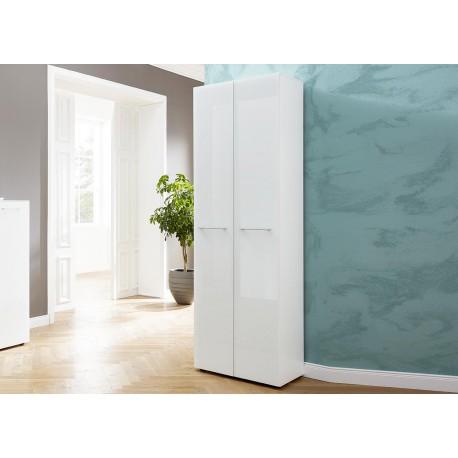 Meuble entrée armoire rangement blanche