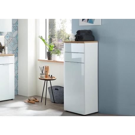 meuble de rangement salle de bain blanc et bois cbc meubles. Black Bedroom Furniture Sets. Home Design Ideas