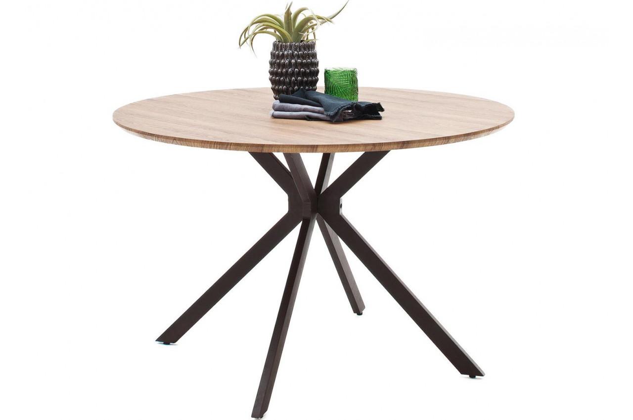 table ronde en bois de salle manger style industriel. Black Bedroom Furniture Sets. Home Design Ideas