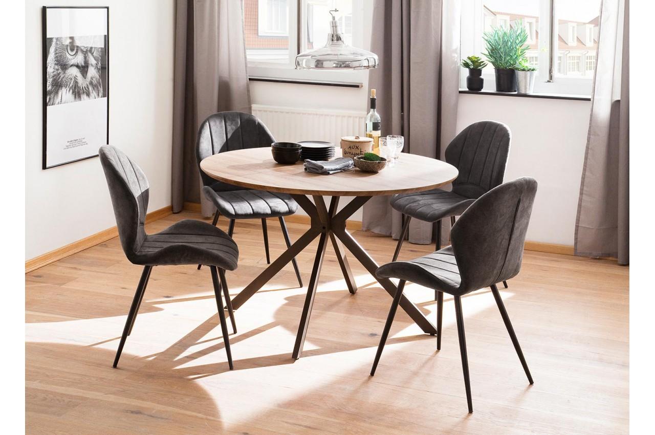 Table En De Meubles Bois Ronde À Cbc Industriel Salle Manger Style dtCsxQhr