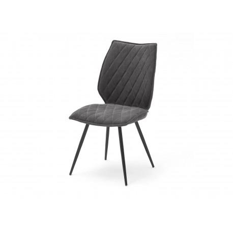 Lot de 2 chaises tissu matelassées style industriel