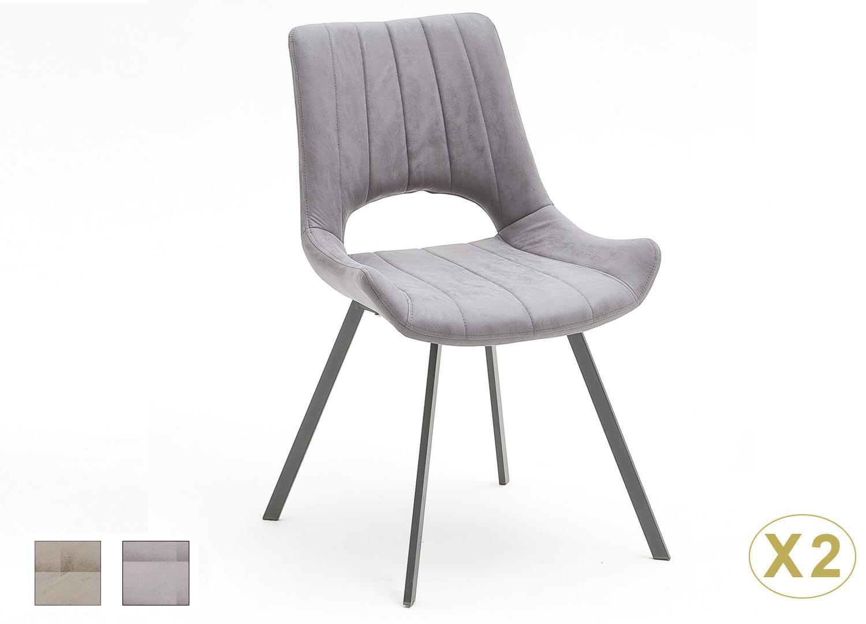 Chaises modernes de salle à manger en tissu