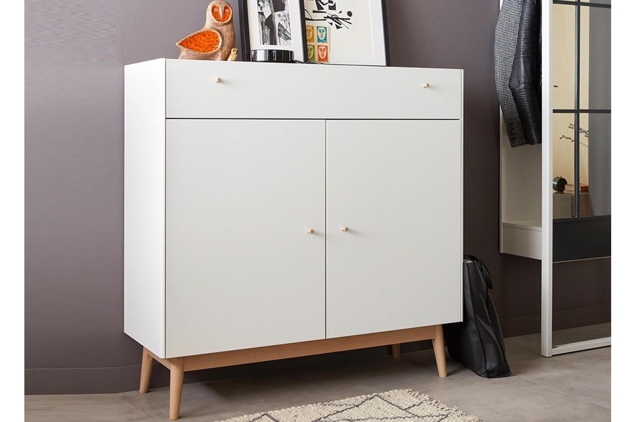 commode rangement ch ne et blanche style scandinave cbc meubles. Black Bedroom Furniture Sets. Home Design Ideas