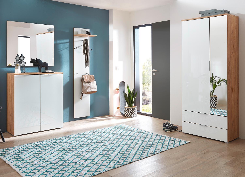 Porte Chaussure Derriere Porte meuble d'entrée rangement chaussures bois et verre blanc