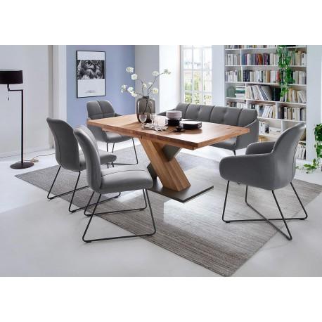 Table repas bois massif rectangulaire 180 cm extensible à 270 cm