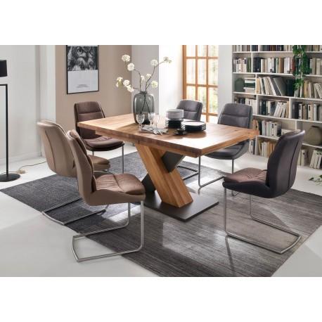 Table repas bois massif rectangulaire 140 cm extensible à 220 cm