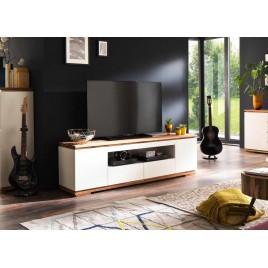 Meuble TV blanc laqué design 2 m