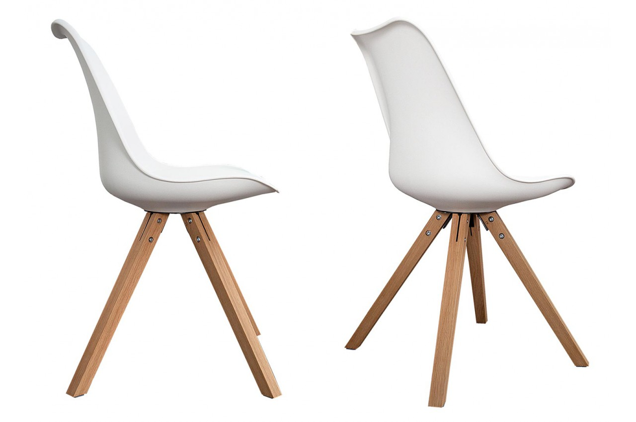 Chaises coque scandinave blanche pas cher cbc meubles - Chaise coque blanche ...