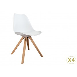Chaises coque scandinave blanche pas cher