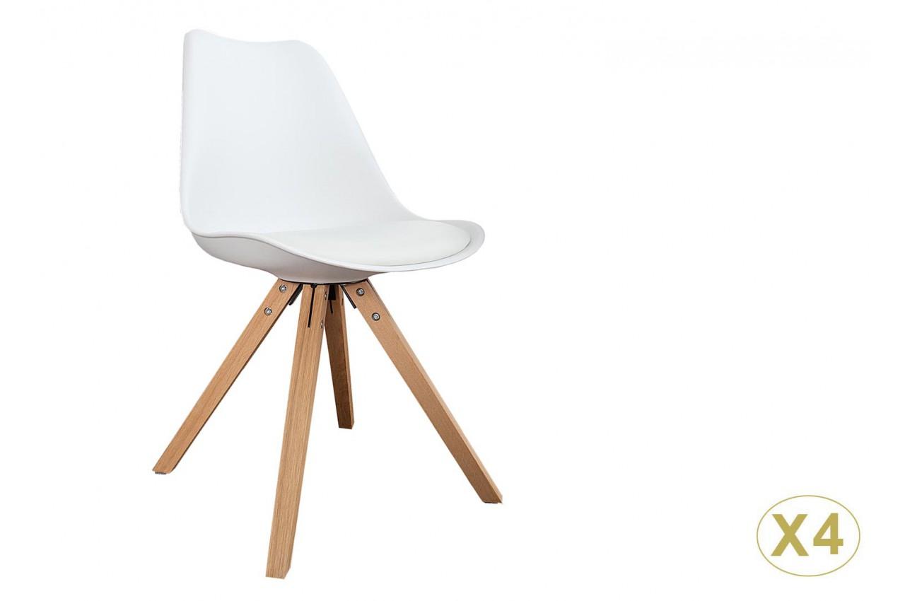 chaises coque scandinave blanche pas cher cbc meubles. Black Bedroom Furniture Sets. Home Design Ideas