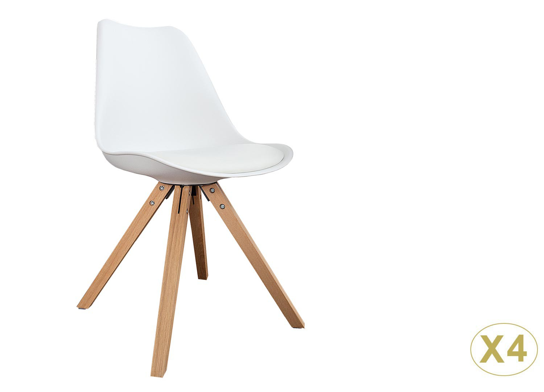 Chaises coque scandinave blanche pas cher