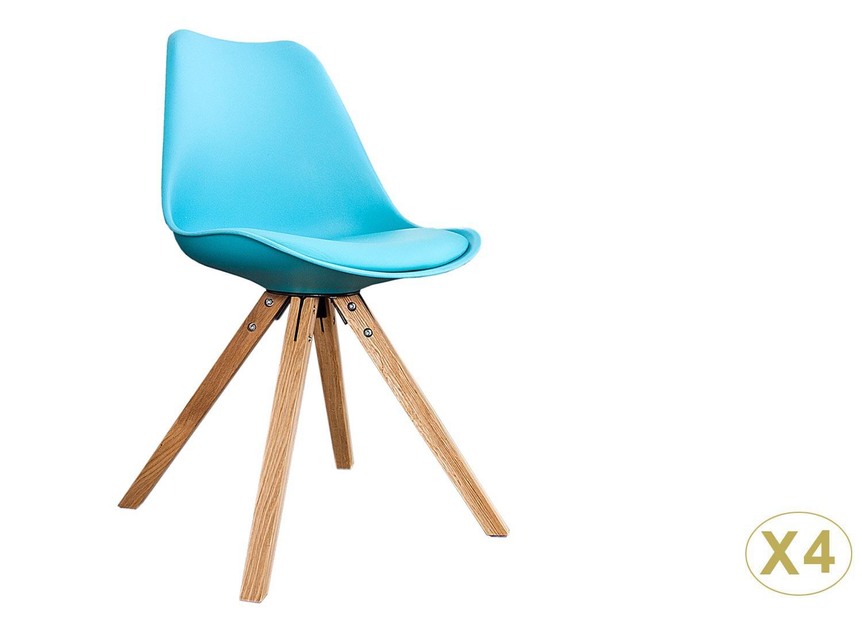 Chaises coque scandinave turquoise pas cher