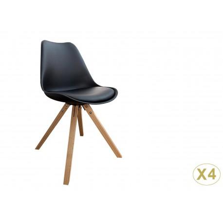 chaises coque scandinave noire pas cher cbc meubles. Black Bedroom Furniture Sets. Home Design Ideas
